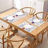FloraGrantnan - Juego de 6 manteles individuales para mesa de comedor, diseño de chacra espiritual de loto con colorido cha, manteles individuales para mesa de comedor