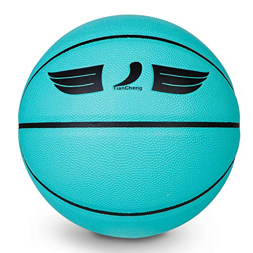 Basketball Tiffany Blue Size7 Advanced Composite Leather, Excellent Touch Feel,Indoor and Outdoor Use,Game Ball,Training Ball-TiffanyBlue