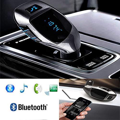 Compatibel met smartphones Asus Zenfone – Bluetooth-transmitter, handsfree, FM, auto, MP3-speler, muziekspeler, adapter, radio, werkt met TF-kaart U-harde schijf