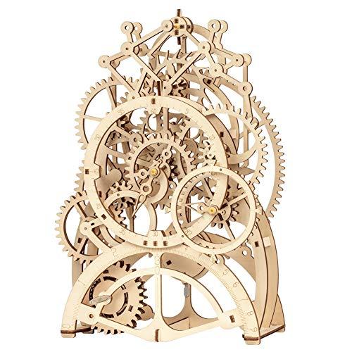 Robotime 3D立体パズル DIY組立 ギア 宝箱 パーペチュアルカレンダー クラフト 123PCS 子供 おもちゃ おもちゃ オモチャ 知育玩具 男の子 女の子 大人 入園祝い 新年 ギフト 誕生日 クリスマス プレゼント 贈り物(振り子) - ROBOTIME