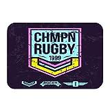 Chaussure extérieure Non-Slip Color Paillasson Dot Emblème College Rugby Team Vintage Style Style Graphique Design Couleur Imprimer Fond Foncé Tapis Tapis D'entrée Tapis 23.6X15.7inch / 60x40cm