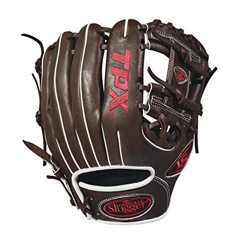 Louisville Slugger 2018 Tpx Infield Baseball Glove - Right Hand Throw Dark Brown/White/Red, 11.25'