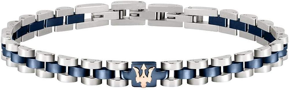 Maserati jewels bracciale uomo  in acciaio, pvd 8033288901518
