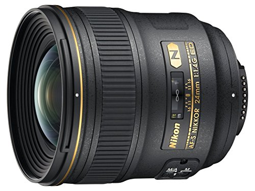 Nikon AF-S FX NIKKOR 24mm f/1.4G ED Wide-Angle Prime Lens for Nikon DSLR Cameras (Renewed)