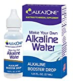 Alkazone Make Your Own Alkaline Water | 1 Pack Makes 20 Gallon of Alkaline Water | Alkaline Booster Drop | Single Pack 1.25 Oz |