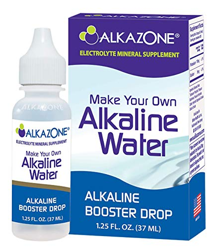 Alkazone Make Your Own Alkaline Water | Alkaline Booster Drop | 1 Pack Makes 20 Gallons | 200 Servings | Tasteless Flavorless | Good for The Environment