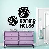HGFDHG Juego de calcomanías de Pared de la casa Dados Gamer niños Pegatinas de Vinilo Dormitorio de niño Cuarto de Juegos para niños hogar Creativo Arte Decorativo Mural
