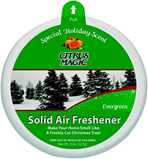 Citrus Magic Holiday Fragrance Solid Air Freshener, Evergreen, 8-Ounce