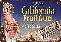 California Fruit Gum 注意看板メタル安全標識注意マー表示パネル金属板のブリキ看板情報サイントイレ公共場所駐車ペット誕生日新年クリスマスパーティーギフト