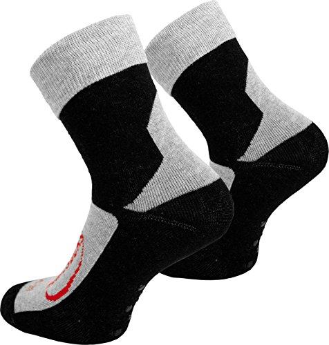 normani 8 Paar Stopper Socken Homesocks mit Rutschfester ABS Sohle und Innenfrottee in Schwarz Farbe...