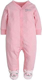 Amissz Unisex Baby Schlafstrampler Bärchen, Baumwolle Pyjamas Cartoon Strampler
