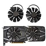 TELESON 87mm T129215SH FDC10U12S9-C 4Pin RTX 2060 2070 2080 Ti GPU Card Cooler Fans for ASUS GeForce RTX2080 RTX2080Ti Gaming Card Fan (1 Pair)