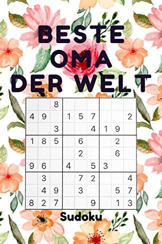 BESTE OMA DER WELT - Sudoku: 240 Sudoku-Rätsel inkl. Lösungen | Leicht-schwer | - kleine Geschenke für Oma zu weihnachten Geburtstag - weihnachtsgeschenke für Großmutter frauen