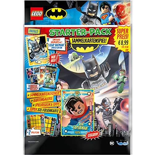 LEGO 180491 Sammelkarten Batman, Starterpack, Sammelordner, EIN Booster und Limitierte Gold Karte, bunt