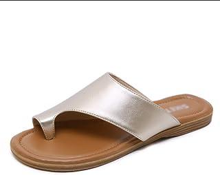 Outdoor Ladies Flip Flop, Non-Slip Flat Sandals, PU Summer Beach Slippers, Soft and Comfortable, Heel Height 1.5cm, Black (36-42) Havaiana
