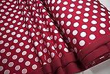 mollipolli-Stoffe Softshell große weiße Punkte auf rot