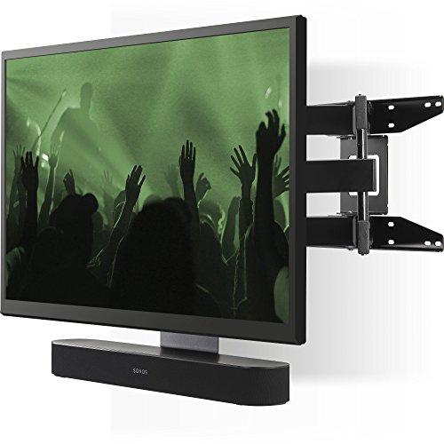 Flexson Fullt rörligt väggfäste för TV och Sonos Beam eller Playbar, svart, FLXBCM651021