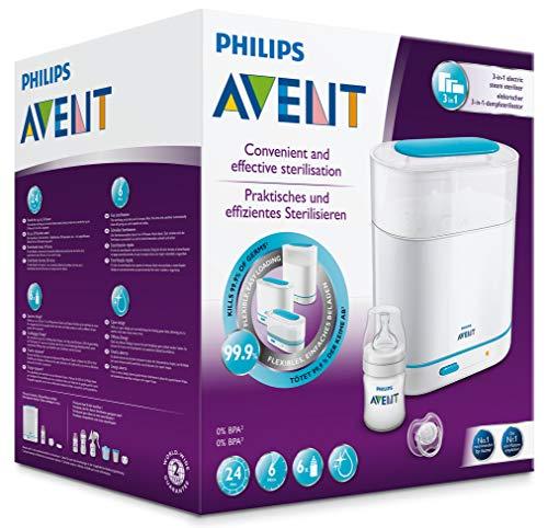 Philips Avent SCF285/02 Elektrischer 3-in-1 Dampfsterilisator, weiß/türkis - 5