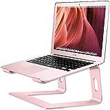 Soporte de aluminio para ordenador de sobremesa compatible con Mac Macbook Pro Air, soporte portátil, elevador ergonómico de metal, apto para ordenadores de sobremesa de 10 a 15.6'