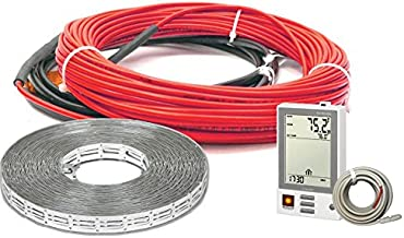 Heatwave Floor Heating Cable 240V (80-150 Square Feet) with Ground Fault Programmable Thermostat