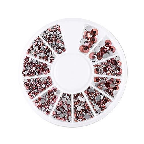Fasclot New Nail Disc 12 Grid Flat Bottom Diamond Magic Mixed Diamond Rhinestone Jewelry