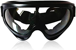 Anti Fog Safety Glasses, Womdee Motorcycle Sport Goggles Adjustable Scratch Resistant Wrap Goggles, Clear