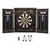 DMI Sports Paris Lighted Set Dartboard Cabinet - Bristle, Rustic Grey