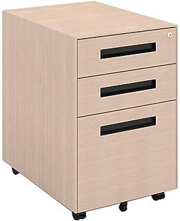 Stockage mobile en métal de tiroir trois de fichier de données de bureau avec la petite armoire de stockage de Cabinet cou...
