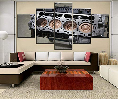 5 piezas de pintura en lienzo, 5 piezas, motor de póster de imagen para dormitorio decorativo, sala de estar, arte de pared para el hogar, decoración, habitación infantil, sala de estar, dormi