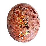 Opale di fuoco messicano naturale, opale rosso verde, dimensioni 22 x 18 x 7 mm, creazione di gioielli, pietra ovale pendente, opale fornitori, AG-15449