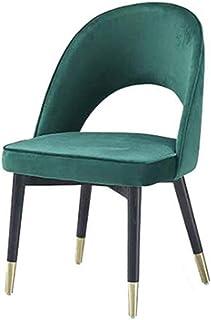 RONG HOME Sillas de Comedor, Silla Retro, sillas Decorativas para Estar Comedor Dormitorio Cocina, Comedor cómodo Terciopelo Patas de la Silla con el Metal (Azul)