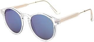 SUERTREE Summer Fashion Round Sunglasses Vintage Metal Frame Mirror Men Women UV 400 Protect Shades for Travel JH9005