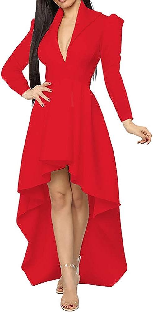 5% OFF Women Peplum Ruffle High Low Tops - Short shipfree Asymmetr Sleeve Unique