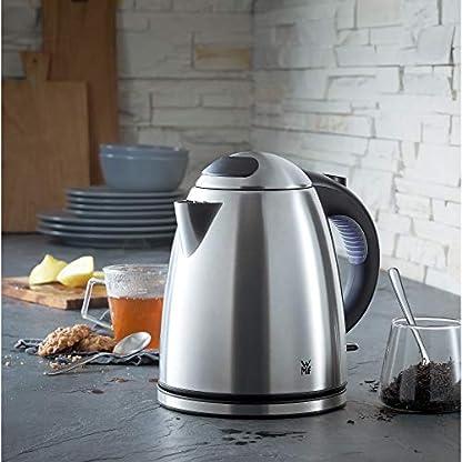 WMF-Stelio-Wasserkocher-12-l-2400-W-Wasserstandsanzeige-beleuchtet-Kalk-Wasserfilter-cromargan-mattsilber-Toaster-Stelio-mit-Bagelfunktion-900-Watt-Edelstahl-matt