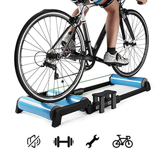 Yajun Home Trainer Vélo Rouleaux Pliable D'Intérieur Exercice à Domicile VTT Formation Fitness Rack Réduction du Bruit équitation Plate-Forme