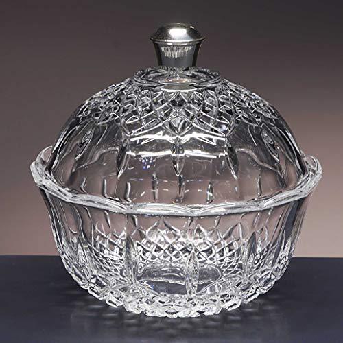 la galaica | Bombonera de Cristal - para Caramelos o Dulces - Colección Opera - pomo en Plata de Ley 925-18x18x19 cm. Decoracion