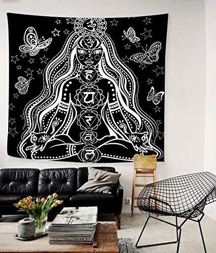 Tapiz de meditación, colorido tapiz de yoga indio, tapiz de arte con mandala, flores, tapiz púrpura, tapiz, hippie, tapete de playa, alfombra, tapiz bohemio, arte en el hogar, decoración psicodélica