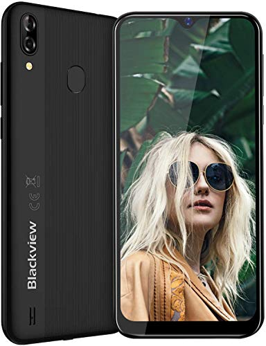 4G Mobile Phone, Blackview A60 Pro Smartphones Unlocked, Dual SIM Free Android 9.0 Phones with 6.1 inches Waterdrop Full-Screen, 4080mAh Big Battery, Fingerprint, Face Unlocked - Black