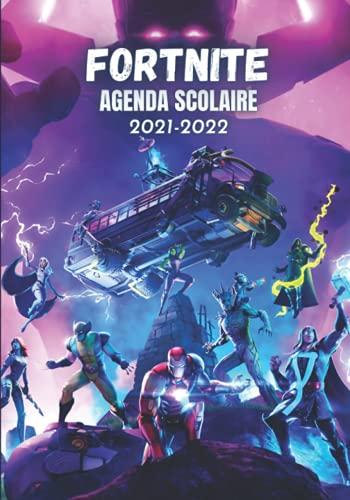 Agenda Scolaire 2021 2022 Fortnite: Couverture pour Garçon et fille | Agenda Scolaire Journalier et semainier 2021-2022, Primaire, college, Lycée, ... scolaires | Agenda anime manga bande dessinée