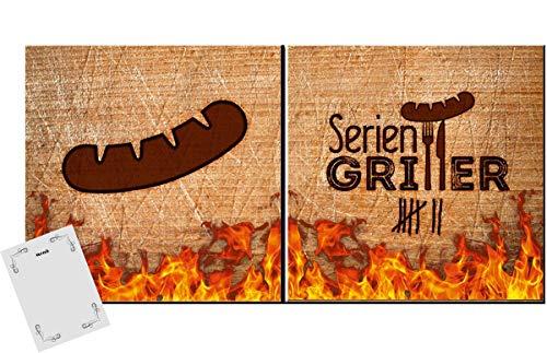 20 Servietten BBQ Time Grillen Barbecue Tischdeko Motiv Spruch Deko 33x33cm