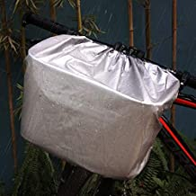 COFIT Bike Basket Cover Sliver and Black, Rainproof and Lightweight