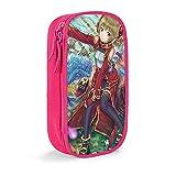 Hirola Sword Art Online Ayano Keiko Anime Estuche de gran capacidad para lápices, bolsa de papelería, caja de papelería multifunción, adecuado para hombres jóvenes y mujeres, color rosa