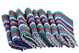 Lot de 8 serviettes,Torchon, Serviette éponge de cuisine, chiffon de travail, Taille;: 45 x 90 cm 100% coton aspect gewürfelte, multicolore 100%