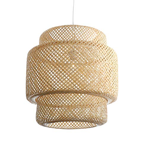 Lussiol 250601 Suspension, Bambou, 60 W, Naturel, Grand