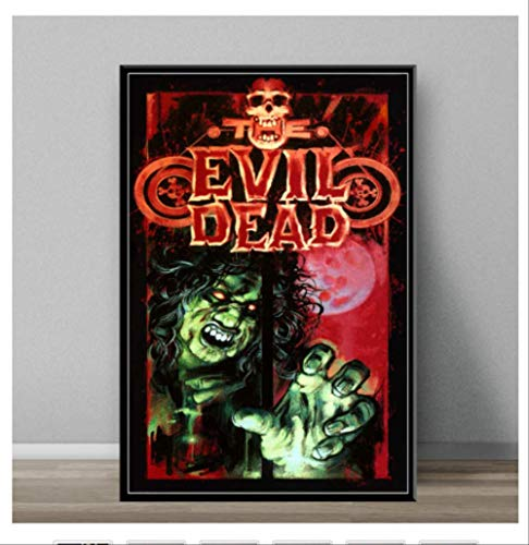 DPFRY Leinwand Malerei Evil Dead Classic Horrorfilm Kunst Malerei Leinwand Poster Wand Dekoration Mw9T 40X60 cm Ohne Rahmen