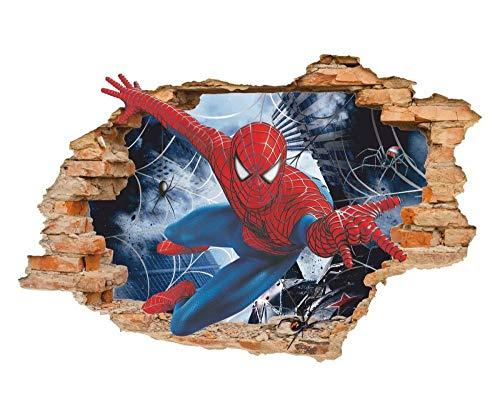 Pegatinas de pared'Spider 3d etiqueta de la pared etiqueta de la pared, etiqueta de vinilo removible'