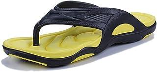 Summer Men Flats Sandals Flip Flop Soft And Comfortable (Color : Yellow, Size : 39)