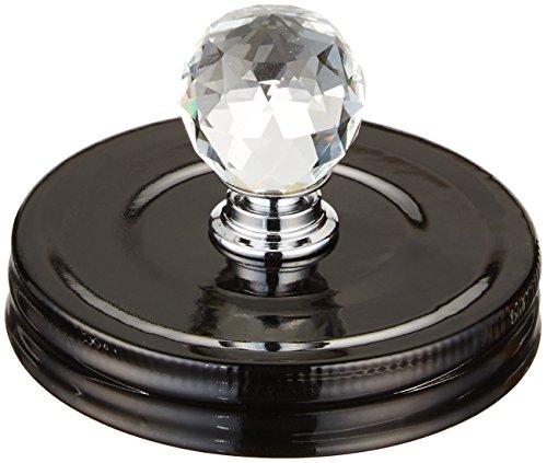 Cosmo Cricket Kunststoff Show Topper Jar lid-lid W/Crystal knob- schwarz