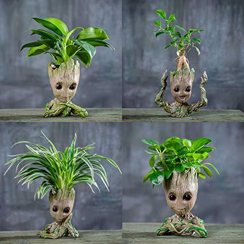 Flowerpot Treeman Baby Groot Succulent Planter Cute Green Plants Flower Pot Guardians of The Galaxy