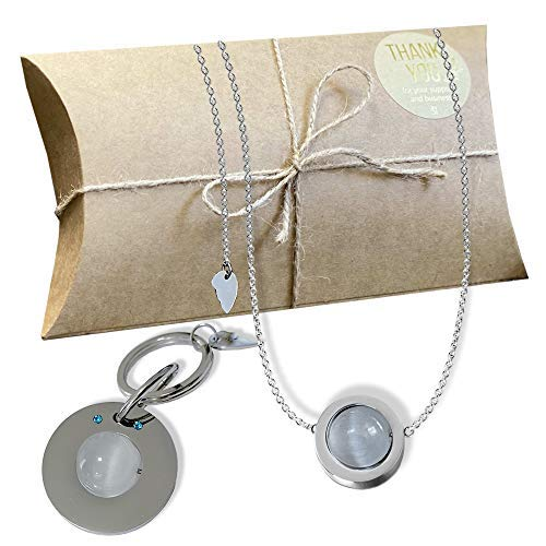 Crystal Quartz Anti Stress And Anxiety Relief Bundle - Necklace And Pet Tag Jewelry With Gift Box Included
